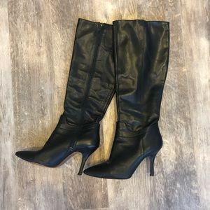 Nine West Leather Pointy Toe Boots